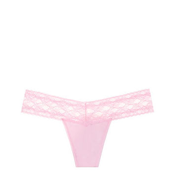 Lace-waist Thong Panty - Cotton Lingerie - Victoria's Secret