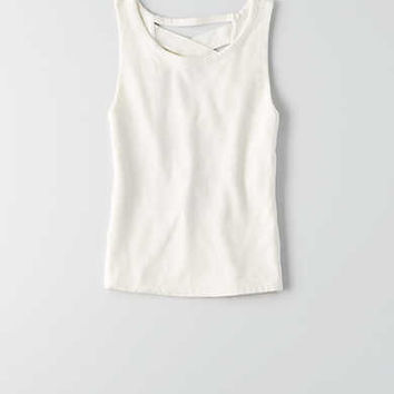 AEO First Essentials Lattice Tank , White