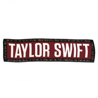 Black & Red 'TAYLOR SWIFT' Chiffon Scarf
