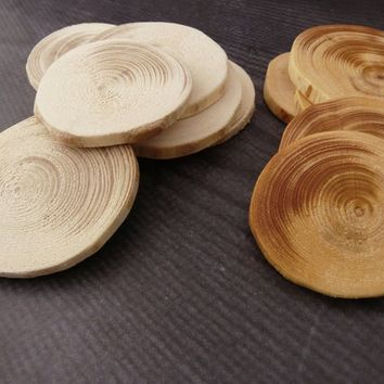 Unfinished pine wooden slices Rustic wood discs wedding oval Natural eco-friendly Home Decor Painting tags Craft Ornament christmas DIY