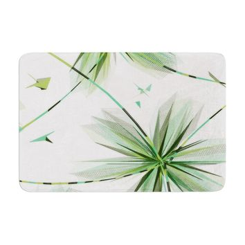 "Alison Coxon ""Flower Teal""  Memory Foam Bath Mat - Outlet Item"