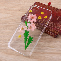 Pink Consolida ajacis real Flower iPhone Galaxy case 058