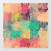 Vintage drip paint rug by healinglove Stretched Canvas by Healinglove products