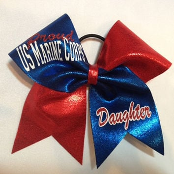Marine Corps Cheer bow