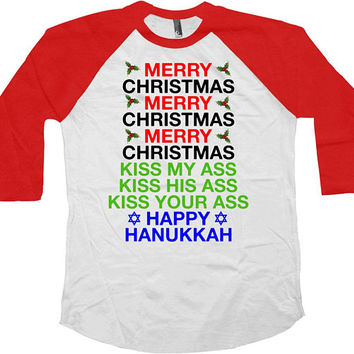 Funny Christmas T Shirt Clark Griswold Christmas Vacation Holiday Party Shirt Presents For Xmas Outfit 3/4 Baseball Raglan Sleeves - SA702