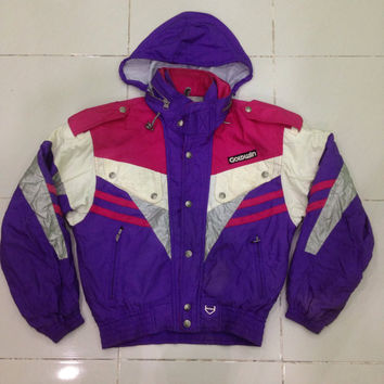 vintage GOLDWIN Club S racing ski team ski jacket / winter jacket / warm up jacket / zipper jacket Large Size