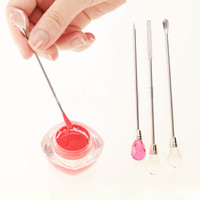Lovely Stainless Steel Stirring Rod Pin Spoon Nail Gel Polish Acrylic Powder Liquid UV Gel Nail Art Manicure Pedicure Tool
