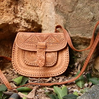Nature style shoulder bag/shoulder bag/Leather shoulder bag/ leather bag.