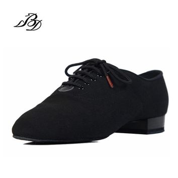 Sneakers BD Dance Shoes Men Shoes Square dance Social Ballroom Latin shoes 309 Black 317 Modern shoe Hot Oxford Cloth Heel 25mm