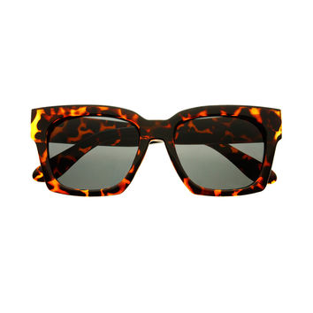 Retro Designer Fashion Unisex Square Sunglasses W2120