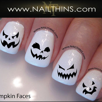 Pumpkin Nail Decal Halloween Nails Jack O Lantern NAILTHINS