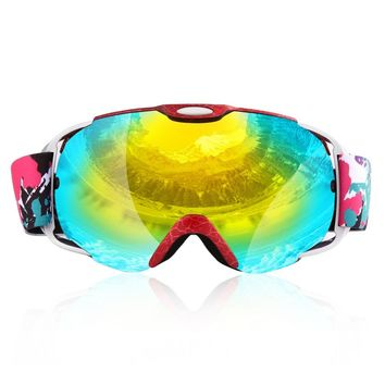 Adults/Child Double Lens Ski Goggles Anti-fog UV400 for Outdoor Sports Skiing Goggles Snow Snowboard Protective Glasses Eyewear