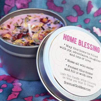HOME BLESSING Candle - Good Vibes & Intentions to Bless Your Home For Love, Health & Prosperity