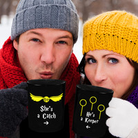 Valentine's Day Mugs - The keeper and The catch
