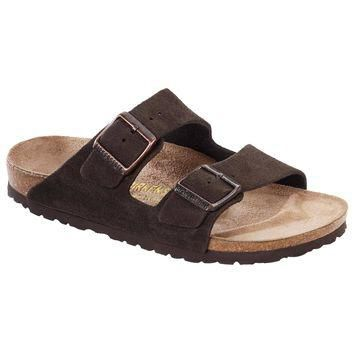 Birkenstock Classic, Arizona, Suede Leather, Regular Fit, Mocca