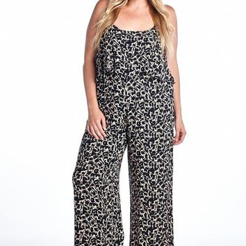 Women's Summer Collection - Women's Plus Size Geo Printed Jumpsuit