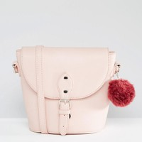 Glamorous | Glamorous Simple Cross Body Bag With Burgundy Pom at ASOS