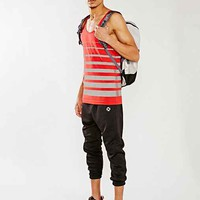 ICNY Gradient Reflective Tank Top- Red