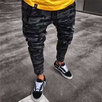 New Camouflage Jogger Pants Men Fitted Active Cotton Sweatpants Male Track Pants Patchwork Casual Pants Man