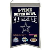 Dallas Cowboys Wool Champions Banner