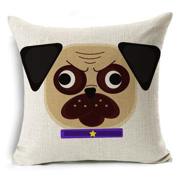 Pug Emojis Pillow Cases