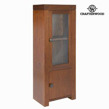 Nature display cabinet 1 door - Nogal Collection by Craften Wood