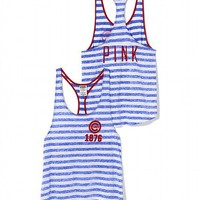 Chicago Cubs High-Low Striped Tank