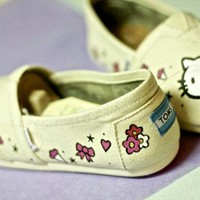 Hello Kitty Sanrio Inspired TOMS Vans or other. Artwork and shoes included