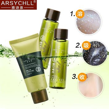 ARSYCHLL Blackhead Remover Olive Extract Face Mask set Acne Treatment Nose Skin Care Masks Shrink Pore Black Head