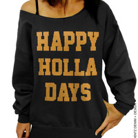 Happy Holla Days – Slouchy Oversized Sweater