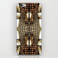 Go Gold Or Go Home iPhone & iPod Skin by Louisa Catharine Art And Patterns