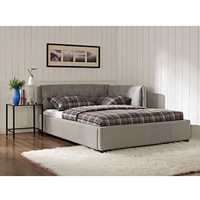 Walmart: Lounge Upholstered Full Bed, Stone