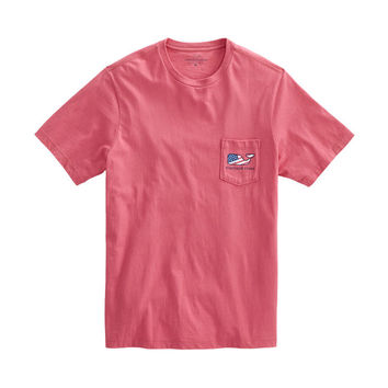 Patriot Whale Pocket T-Shirt
