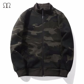 Camouflage Hooded Jacket Men Hoodies 2017 Winter Warm Coat Tracksuit Thick Army Green Sweatshirts Military Fleece Hooded Jacket