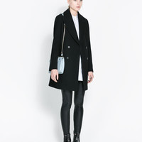 DOUBLE BREASTED WOOL COAT - Coats - Woman | ZARA United States