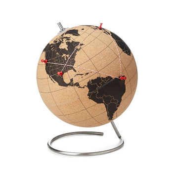 Cork Globe | travel, interactive globe
