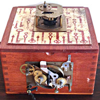 Steampunk Clockwork Cigar Box