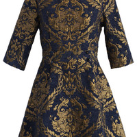 Glorious Baroque Intarsia Dress Multi