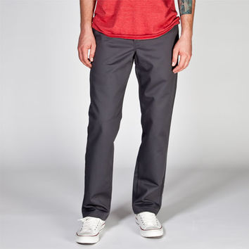 Dickies 830 Mens Slim Taper Pants Charcoal  In Sizes