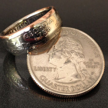 Georgia, State Quarter Coin Rings