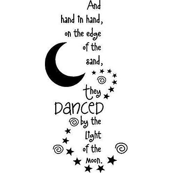 Hand in Hand They Danced in The Sand Family Words Quote Home Decor Vinyl Wall Art Stickers Decals Graphics
