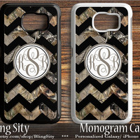 Galaxy S6 Edge Case Black Chevron Camo Monogram S4 S5 Tough Custom Cover Tree Camo Personalized Samsung S3 Case Note 2 3 4 Country Girl