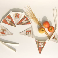Harvest Autumn Bunting Garland Banner Fall Decoration Autumn Décor Cottage Chic