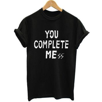 New You Complete Mess Me 5sos Shirt Five 5 Seconds Of Summer T Shirt T Shirt Luke Hemmings Women Clothing