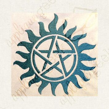 Supernatural-inspired Anti Possession Tattoo Applique Embroidery Design - Appliqué Geek