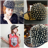Hedgehog Punk Rock Studded Baseball Hip-hop Hat Spike Rivet Spiky Stud Cap Dance