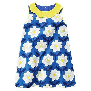 Baby Girls Summer Dresses Robe Enfant Princess Dress Costumes for Kids Clothing Rainbow Print 100% Cotton Girls Jersey Clothes