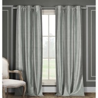 Exclusive Fabrics Textured Dupioni Faux Silk Grommet 84-inch Blackout Grommet Curtain Panel | Overstock.com Shopping - The Best Deals on Curtains
