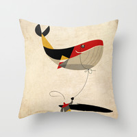 thoughts on a leash Throw Pillow by Riccardo Guasco