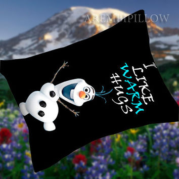 Disney Movies Frozen Movie  Olaf I Like Warm Hugs - Pillow Case,Retro Pillow,Throw Pillow,Sova Pillow,Pillow Cover.The Best Pillow.